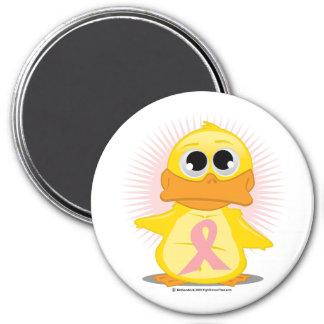 Peach Ribbon Duck Magnet