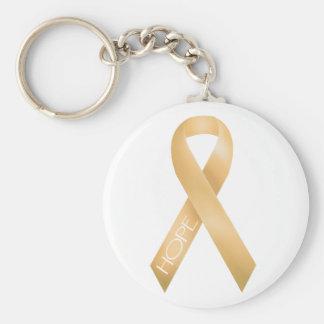 Peach Ribbon Key Chains