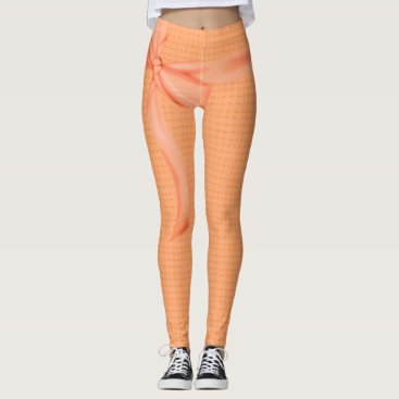 Beach Themed PEACH-RIBBON-ROMANTIC'S--LEGGING'S_XS-XL LEGGINGS