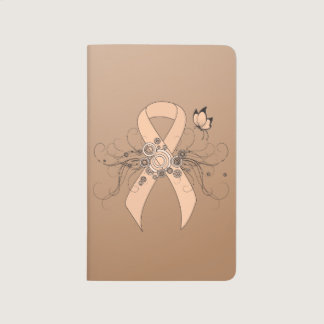 Peach Ribbon with Butterfly Journal
