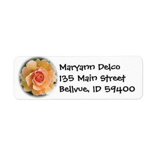 Peach Rose Address Label