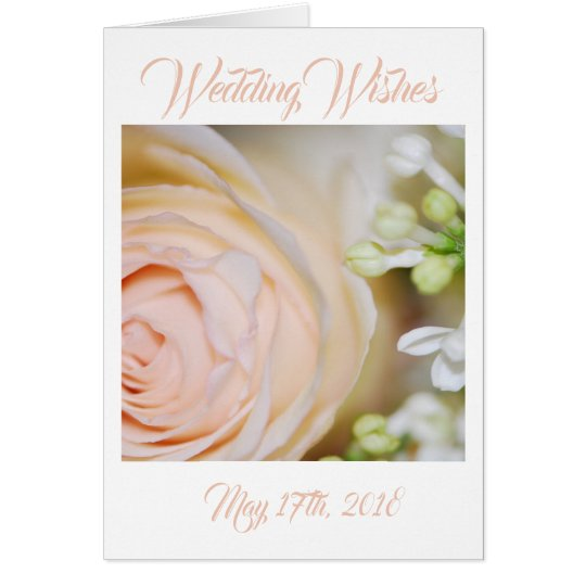Peach Rose and Lilacs Card