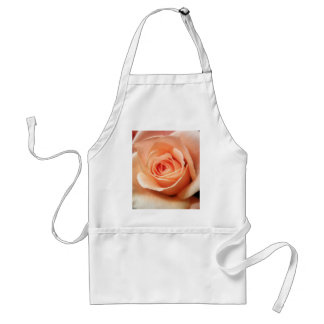 Peach Rose Apricot Roses Flowers Floral Photo Adult Apron