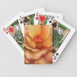 Peach Rose Bicycle Card Deck
