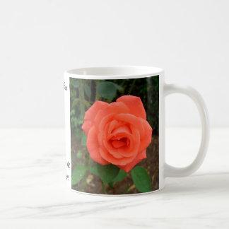 Peach Rose Blossom CricketDiane Classic White Coffee Mug