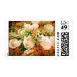 Peach Rose Bouquet Postage Stamp