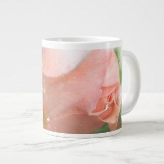 Peach Rose Bud Jumbo Mug