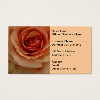 Peach Rose Business Card