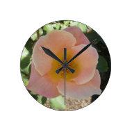 Peach Rose Clock