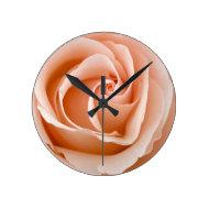 Peach Rose Clocks