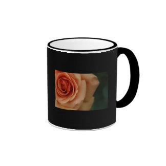 Peach Rose Coffee Ringer Coffee Mug
