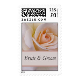 Peach rose - customize with your names postage