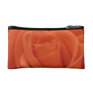 Peach rose Floral Image - Small Cosmetic Bag
