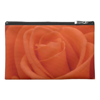Peach Rose Floral Image - Travel Accessory Bag