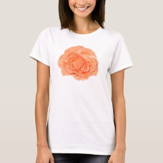 Peach Rose Flower Babydoll T-Shirt