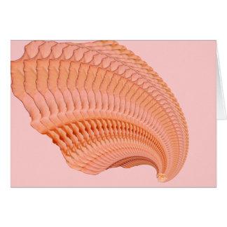 Peach Rose Fractal Card