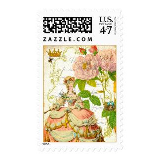 Peach Rose Garden Postage Stamp