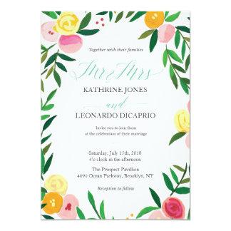'Peach Rose Garden' Wedding Invitation