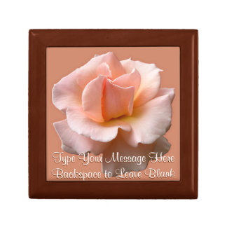 Peach Rose Gift Box Personalized Wild Flower Boxes