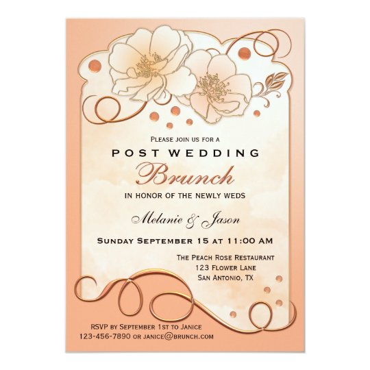 After Wedding Brunch Invitation: Just Married Post Wedding Brunch Invitation