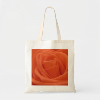 Peach Rose Image - Budget Tote Bag