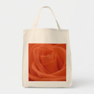 Peach Rose Image - Grocery Tote Bag