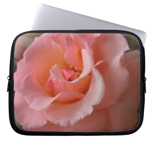 Peach Rose Laptop Sleeve Wild Rose Tablet Case