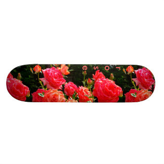 Peach Rose - monogram Skateboard Deck