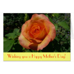 Peach Rose Mother's Day Card