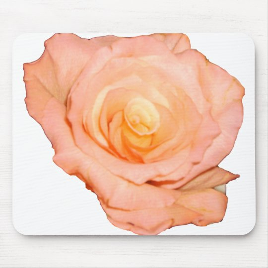 Peach Rose Mouse Pad