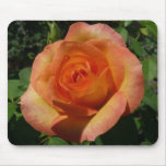 Peach Rose Orange Floral Mouse Pad