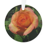 Peach Rose Orange Floral Ornament