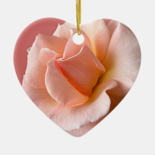 Peach Rose Ornament Personalized Rose Decorations