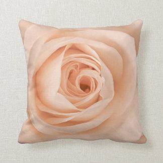 Peach rose pillow cushion