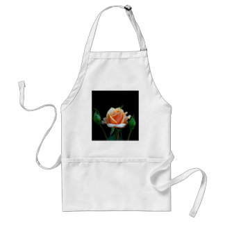Peach Rose & Rosebuds Adult Apron
