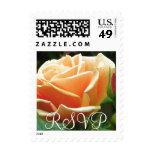 Peach Rose RSVP Stamp