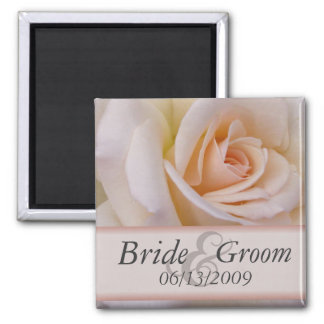 Peach rose save the date magnets - Customized