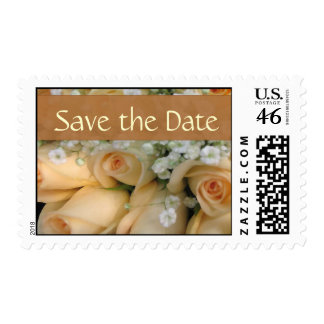Peach rose save the date stamps