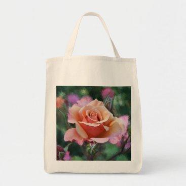 photopainter Peach Rose Shopping Bag