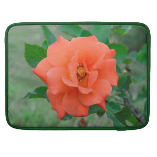 Peach rose sleeve for MacBook pro