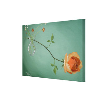 Peach rose Stretched Canvas Print