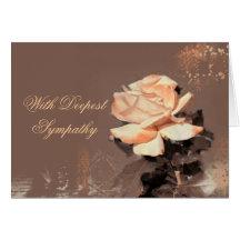 Peach Rose Sympathy Card