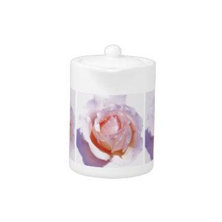Peach Rose Teapot