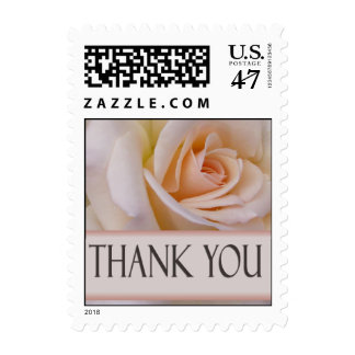 Peach rose thank you stamps