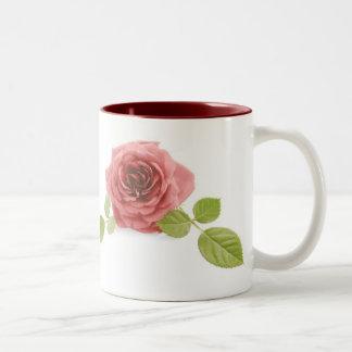 Peach Rose Two-Tone Coffee Mug