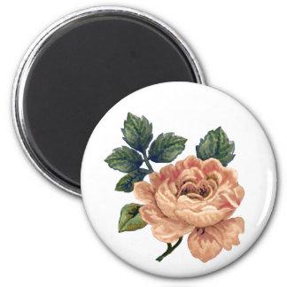 Peach Rose - Vintage Makeover. 2 Inch Round Magnet
