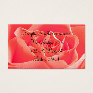 Peach Rose Wedding enclosure cards