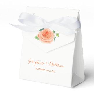 Peach Rose Wedding Favor Box