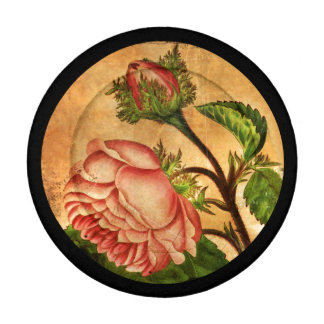 Peach Roses Botanical Image Button Covers