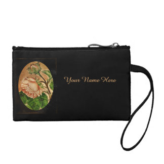 Peach Roses Botanical Image Coin Wallet